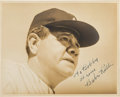 Autographs:Photos, 1940's Babe Ruth Signed Photograph....