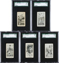 Baseball Cards:Lots, 1927/28 Caramel, Ice Cream and Game Sets Type-Card Collection (5)....