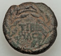 Ancients:Roman Provincial , Ancients: JUDAEA. Tiberias. Claudius (AD 41-54). Æ 22 mm (10.69gm)....