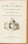 Books:Literature Pre-1900, [George Cruikshank, illustrator]. Harriet Beecher Stowe. UncleTom's Cabin. London: John Cassell, 1852. First editio...