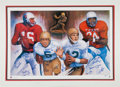Football Collectibles:Others, 1997 Heisman Trophy Winners Multi Signed Lithograph. ...