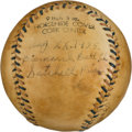 Autographs:Baseballs, 1935 Satchel Paige Single Signed Baseball....