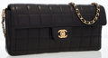 Luxury Accessories:Bags, Chanel Black Square Quilted Lambskin Leather East-West Flap Bagwith Gold Hardware. ...