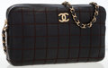 Luxury Accessories:Bags, Chanel Black Square Quilted Lambskin Leather Shoulder Bag. ...