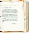 Books:Americana & American History, Series of Original Government Documents Relating to the Tomb of theUnknown Soldier. 1958. Housed in a cloth binder. Spine s...