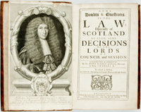 John Nisbet. Some Doubts & Questions in the Law; Especially of Scotland. As Also, Some Decisions of the Lords o