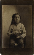 "American Indian Art:Photography, ""MRS. MARY CARSON,"" TRIBE UNKNOWN, POSSIBLY OSAGE. c. 1895. ..."