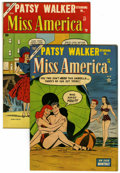 """Golden Age (1938-1955):Romance, Miss America Magazine #56 and 57 Group - Davis Crippen (""""D"""" Copy)pedigree (Timely, 1953) Condition: Average FN/VF.... (Total: 2Comic Books)"""