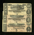Confederate Notes:1864 Issues, T68 $10 1864 Two Examples. T69 $5 1864.. ... (Total: 3 notes)