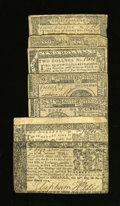 Colonial Notes:Maryland, Continentals and Colonials.. ... (Total: 7 notes)