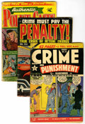 Golden Age (1938-1955):Miscellaneous, Miscellaneous Golden Age Crime Comics Group (Various publishers and years) Condition: Average VG.... (Total: 22 Comic Books)