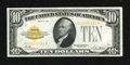 Small Size:Gold Certificates, Fr. 2400 $10 1928 Gold Certificate. Very Fine-Extremely Fine.. A dark third printing is found on this $10 Gold....