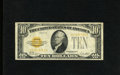 Small Size:Gold Certificates, Fr. 2400 $10 1928 Gold Certificate. Fine-Very Fine.. A lovely gold certificate that appears to be a bright and colorful VF b...