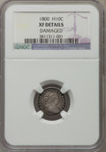 Early Half Dimes: , 1800 H10C -- Damaged -- NGC Details. XF. NGC Census: (10/93). PCGSPopulation (20/131). Mintage: 40,000. Numismedia Wsl. Pr...