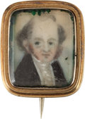 Political:Ferrotypes / Photo Badges (pre-1896), Martin Van Buren: Cute Portrait Miniature....