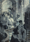 Fine Art - Painting, American:Modern  (1900 1949)  , MEAD SCHAEFFER (American, 1898-1980). Greek Wedding. Oil oncanvas. 38-1/8 x 27-1/8 inches (96.8 x 68.9 cm). Signed lowe...