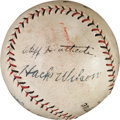 Autographs:Baseballs, Circa 1930 Chicago Cubs Stars Signed Baseball with Hack Wilson....