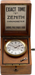 "Timepieces:Other , Zenith ""Exact Time"" Chronometer Jeweler's Display. ..."