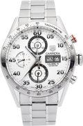 Timepieces:Wristwatch, Tag Heuer Ref. CV2A11 Steel Automatic Carrera Chronograph. ...