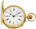 Timepieces:Pocket (pre 1900) , Sir John Bennett London Heavy 18k Gold Keyless Lever With HackCenter Seconds, circa 1880. ...