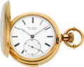 Timepieces:Pocket (pre 1900) , Jules Jurgensen Very Fine & Choice Gold Minute Repeater With Patent Bow Setting, Original Box, circa 1880. ...
