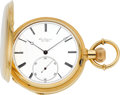 Timepieces:Pocket (pre 1900) , Jules Jurgensen Very Fine Gold Hunters Case With Patent BowSetting, Original Box, circa 1880. ...