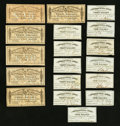 Confederate Notes:Group Lots, Bond Coupons Eighteen Examples.. ... (Total: 18 items)