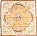 "Luxury Accessories:Accessories, Hermes 90cm Brown & Beige ""Kosmima,"" by Julia Abadie SilkScarf. ..."