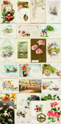 Miscellaneous:Postcards, [Postcards] Group of Twenty-Four with a Floral Theme. Ca. 1915.Very good. From the collection of Judith Adelman. . ...