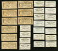 Confederate Notes:Group Lots, Bond Coupons Twenty-seven Examples.. ... (Total: 27 items)