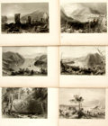 Books:Prints & Leaves, Nathaniel Parker Willis. Six Plates from American Scenery; or,Land, Lake, and River. From drawings by W.H. Bart...