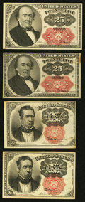 Fractional Currency:Fifth Issue, Fifth Issue Fractionals.. ... (Total: 4 notes)