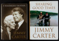 Autographs:Others, President Jimmy Carter Signed Books Lot Of 2...
