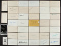 Autographs:Index Cards, Baseball Greats Signed Index Cards And Postcards Lot Of 39....