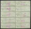 Golf Collectibles:Miscellaneous, 1970's Sam Snead Signed Checks Lot of 10. ...