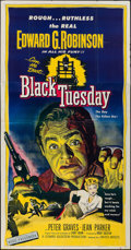 """Movie Posters:Crime, Black Tuesday (United Artists, 1955). Three Sheet (41"""" X 79"""").Crime.. ..."""