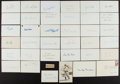 Autographs:Index Cards, Baseball Greats Signed Index Cards Lot Of 35+....
