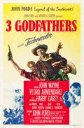 """Movie Posters:Western, 3 Godfathers (MGM, 1948). One Sheet (27"""" X 41"""").. ..."""