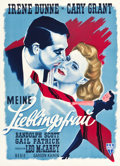 """Movie Posters:Comedy, My Favorite Wife (RKO, Late 1940s). First Post-War Release GermanA1 (23.75"""" X 32.75""""). Comedy.. ..."""