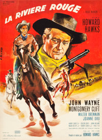 """Red River (United Artists, R-1960s). Full-Bleed French Affiche (22.5"""" X 31"""")"""