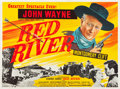 "Movie Posters:Western, Red River (United Artists, R-1950s). British Quad (30"" X 40"").. ..."