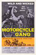 "Movie Posters:Exploitation, Motorcycle Gang (American International, 1957). One Sheet (27"" X41"").. ..."