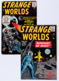 Golden Age (1938-1955):Science Fiction, Strange Worlds #2 and 4 Group (Avon, 1951).... (Total: 2 )