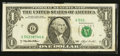 Error Notes:Foldovers, Fr. 1918-G $1 1993 Federal Reserve Note. Fine.. ...