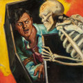 Pulp, Pulp-like, Digests, and Paperback Art, RAFAEL DESOTO (American, 1904-1992). The Image of Death, BlackBook Detective pulp cover, October 1933. Oil on canvas. 2...(Total: 2 Items)