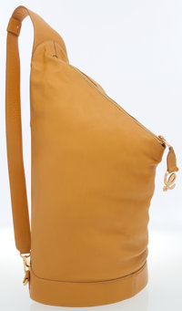 Loewe Yellow Leather Backpack Bag