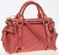 Luxury Accessories:Bags, Miu Miu Rosa Pink Leather Bow Satchel Bag with Gold Hardware. ...