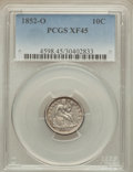 Seated Dimes: , 1852-O 10C XF45 PCGS. PCGS Population (10/27). NGC Census: (3/40). Mintage: 430,000. Numismedia Wsl. Price for problem free...