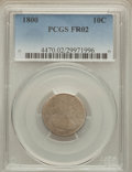 Early Dimes: , 1800 10C Fair 2 PCGS. PCGS Population (3/67). NGC Census: (1/31).Mintage: 21,760. Numismedia Wsl. Price for problem free N...