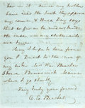 Autographs:Celebrities, [Women's Suffrage]. Catherine E. Beecher Autographed Letter Signed.Dated July 12th, 1850. Sister of Harriet Beecher Stowe. ...